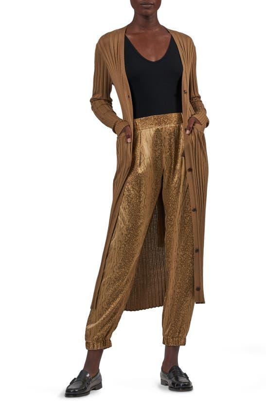 Atm Anthony Thomas Melillo Wide Rib Silk Blend Long Cardigan In Sahara