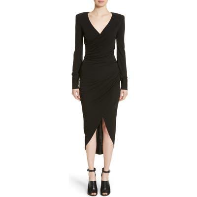 Michael Kors Stretch Jersey Wrap Dress
