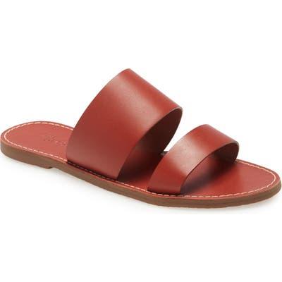 Madewell The Boardwalk Double Strap Slide Sandal, Red