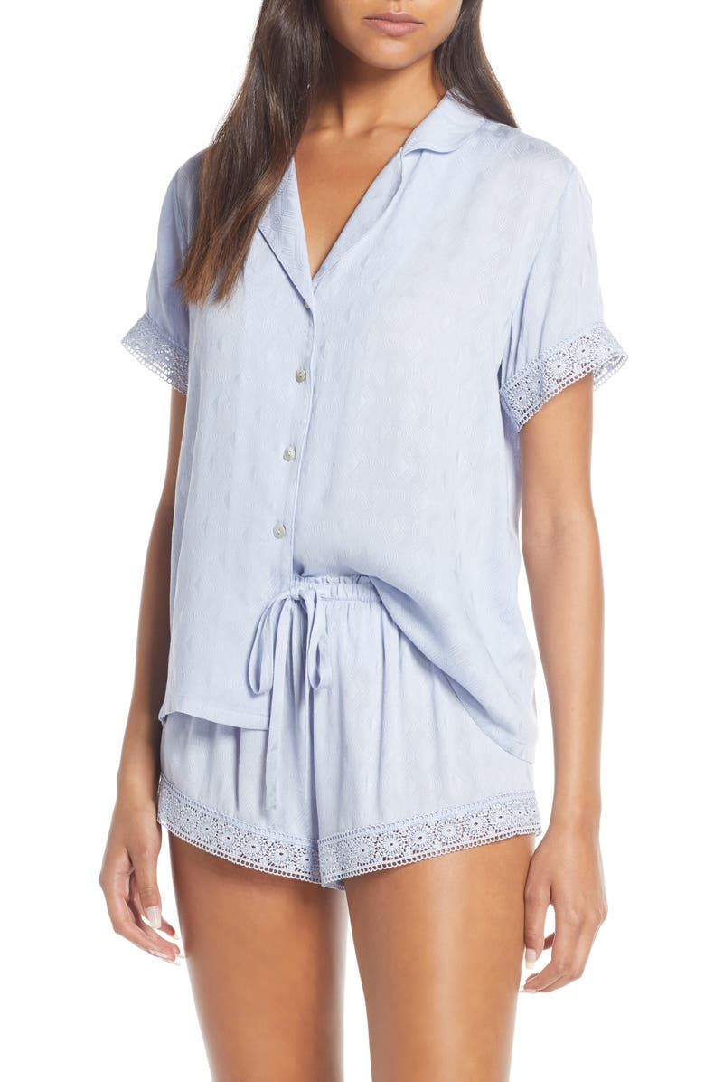 FLORA NIKROOZ Laurel Short Pajamas, Main, color, BLUE