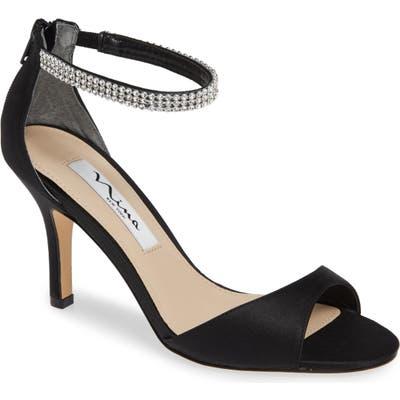 Nina Volanda Ankle Strap Sandal, Black