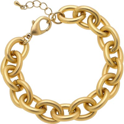 Canvas Jewelry Vera Chain Link Bracelet