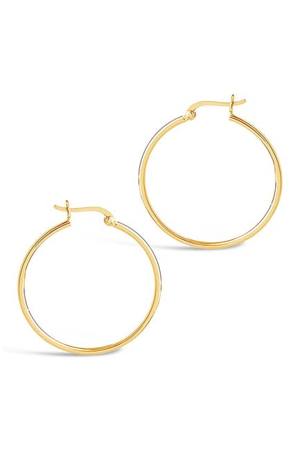 "Image of Sterling Forever 14K Gold Plated Sterling Silver 1.5"" Hoop Earrings"