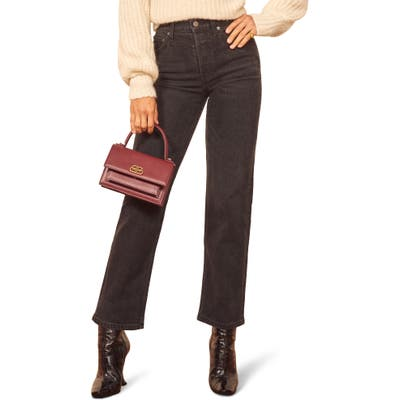 Reformation Juliet High Waist Relaxed Fit Button Fly Straight Leg Jeans