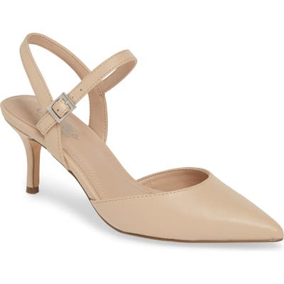 Charles By Charles David Ankle Strap Pump, Beige