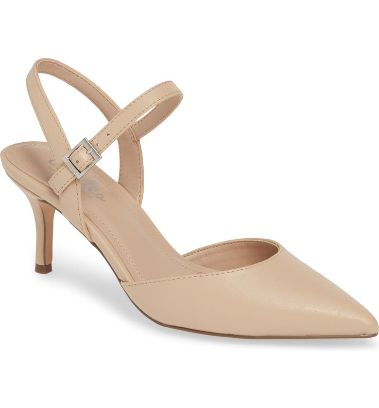 CHARLES BY CHARLES DAVID Ankle Strap Pump, Main, color, NUDE FAUX LEATHER