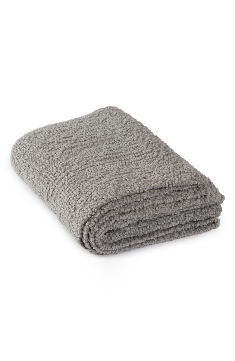 BAREFOOT DREAMS<SUP>®</SUP> Bouclé Throw Blanket, Main, color, DOVE GRAY