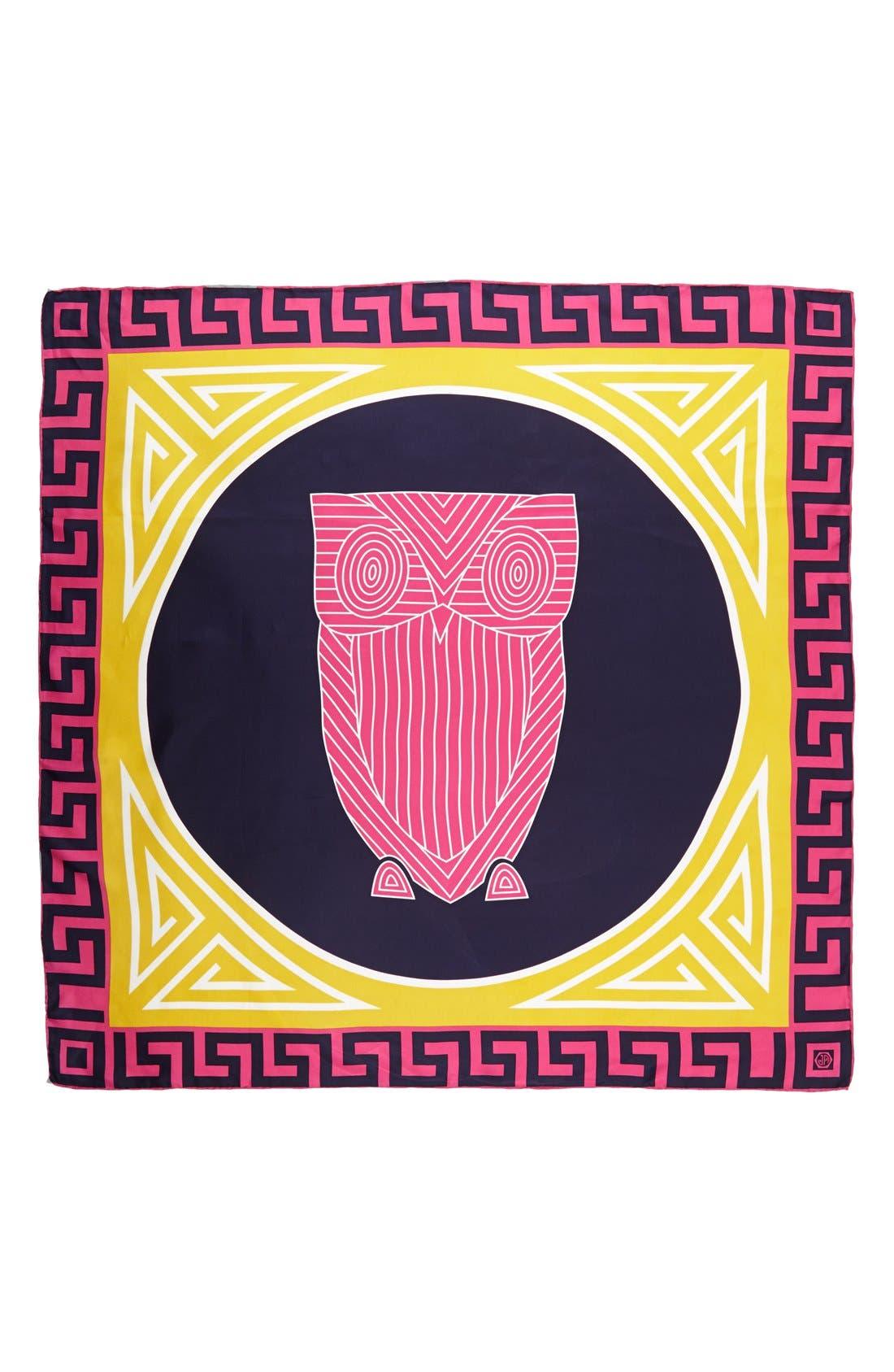 ,                             'Chinoiserie Owl' Silk Scarf,                             Alternate thumbnail 4, color,                             671