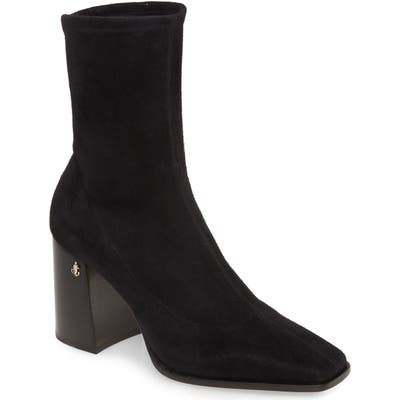 Jimmy Choo Bryelle Stretch Suede Ankle Boot - Black