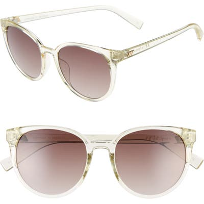 Le Specs Armada 5m Cat Eye Sunglasses - Transparent Yuzu/ Brown