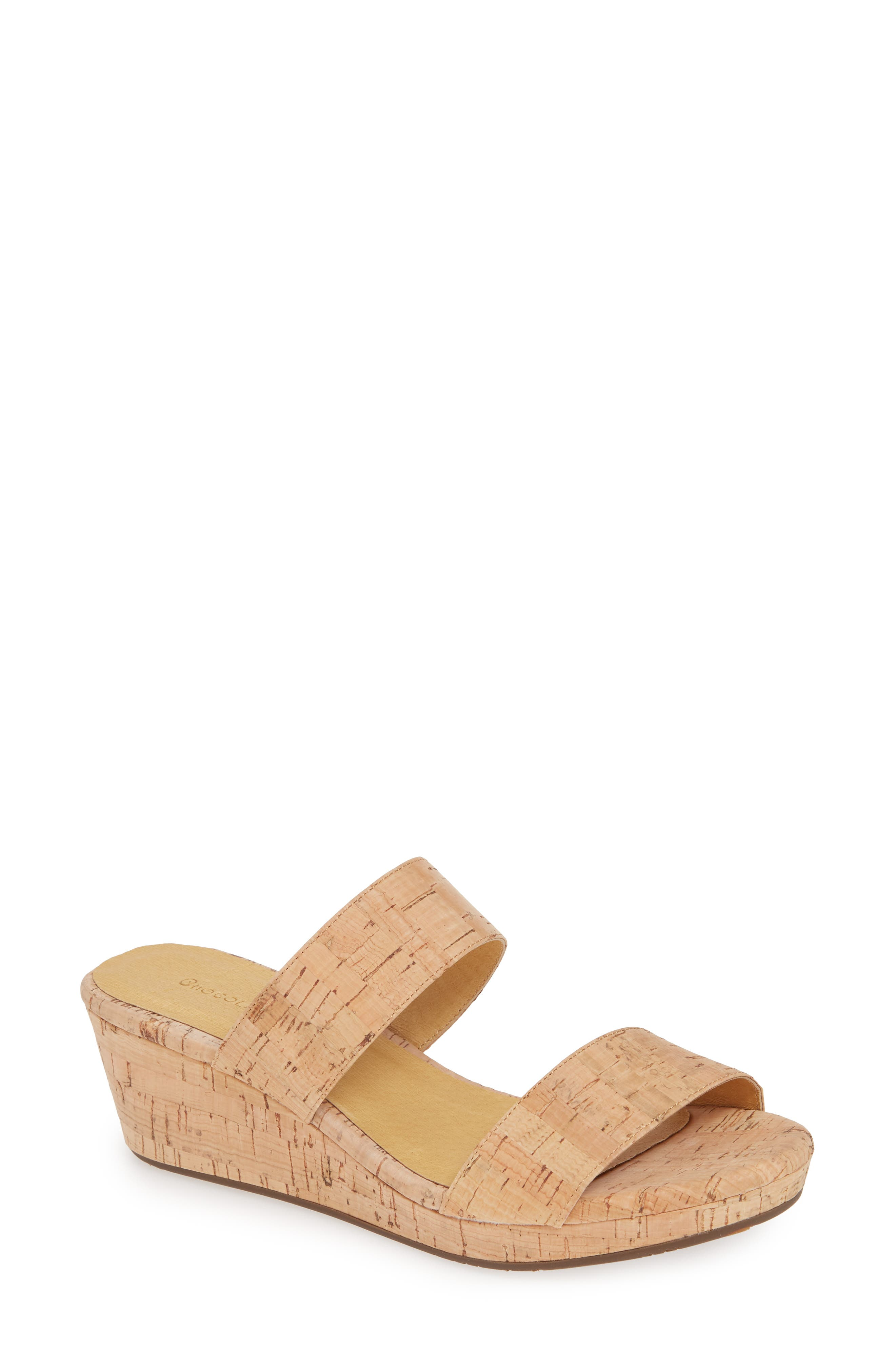 Yael Platform Wedge Slide Sandal