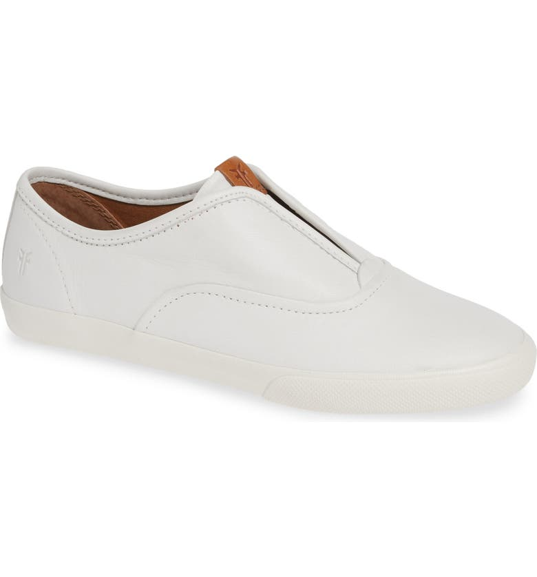 FRYE Maya Slip-On Sneaker, Main, color, WHITE LEATHER