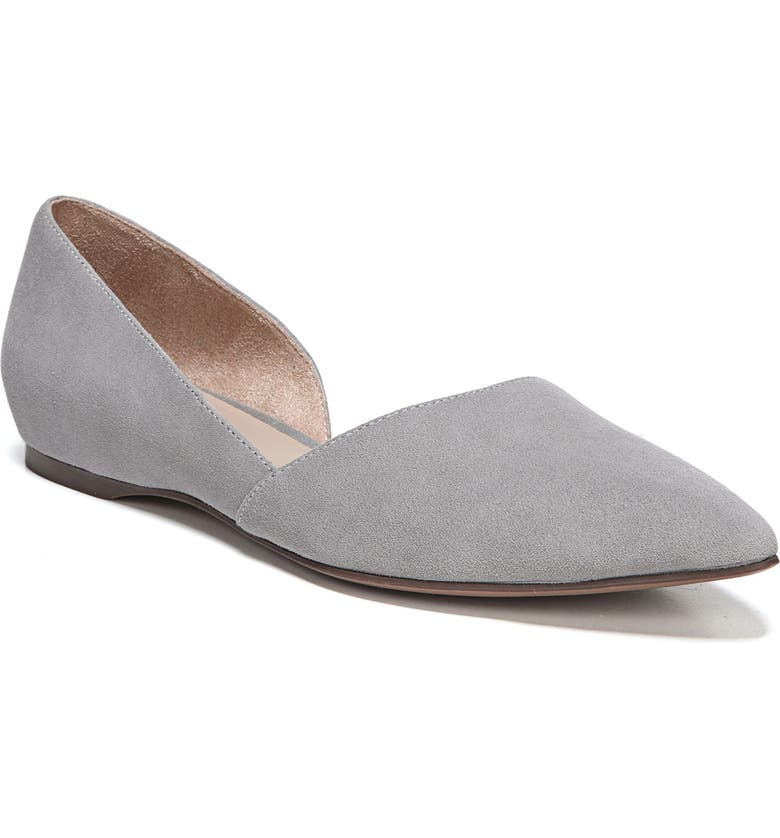 NATURALIZER Samantha 2 Flat, Main, color, GREY FOG SUEDE