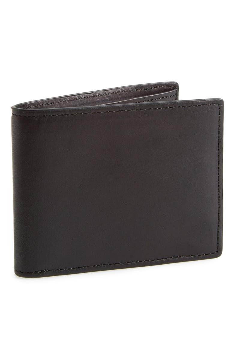 RAG & BONE Hampshire Leather Bifold Wallet, Main, color, 002