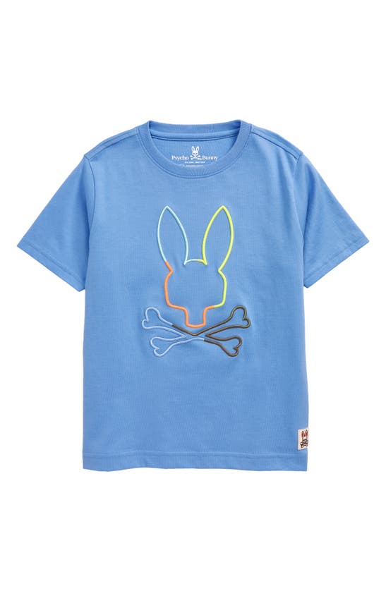 PSYCHO BUNNY Cottons BOYS' SHEFFIELD EMBROIDERED LOGO T-SHIRT