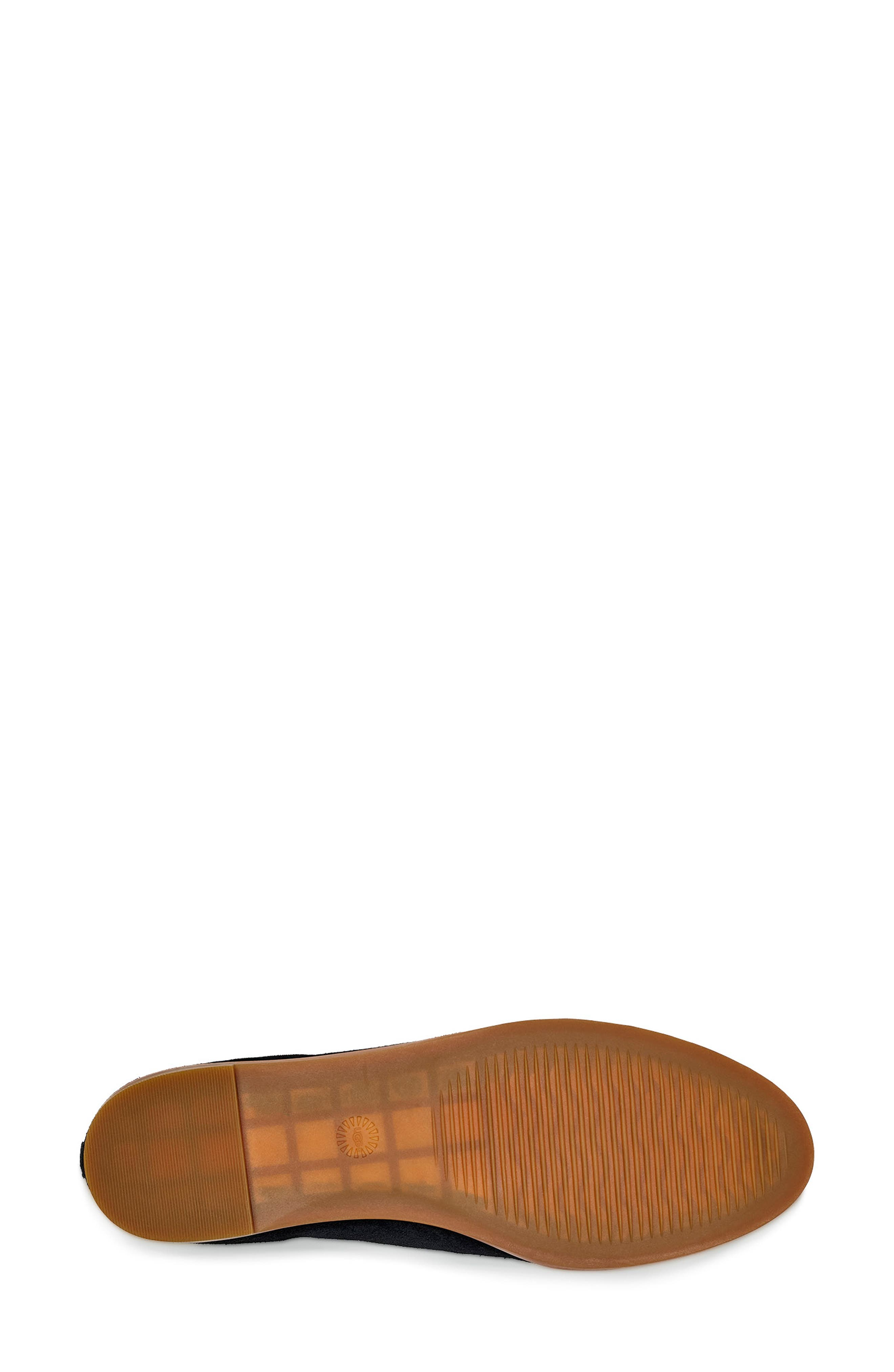,                             Bonnie Loafer Flat,                             Alternate thumbnail 5, color,                             BLACK SUEDE