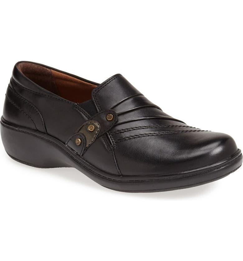 ARAVON 'Danielle' Loafer Flat, Main, color, BLACK