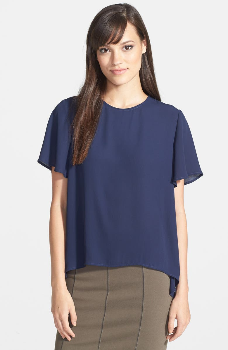 HARLOWE AND GRAHAM High/Low Blouse, Main, color, 400