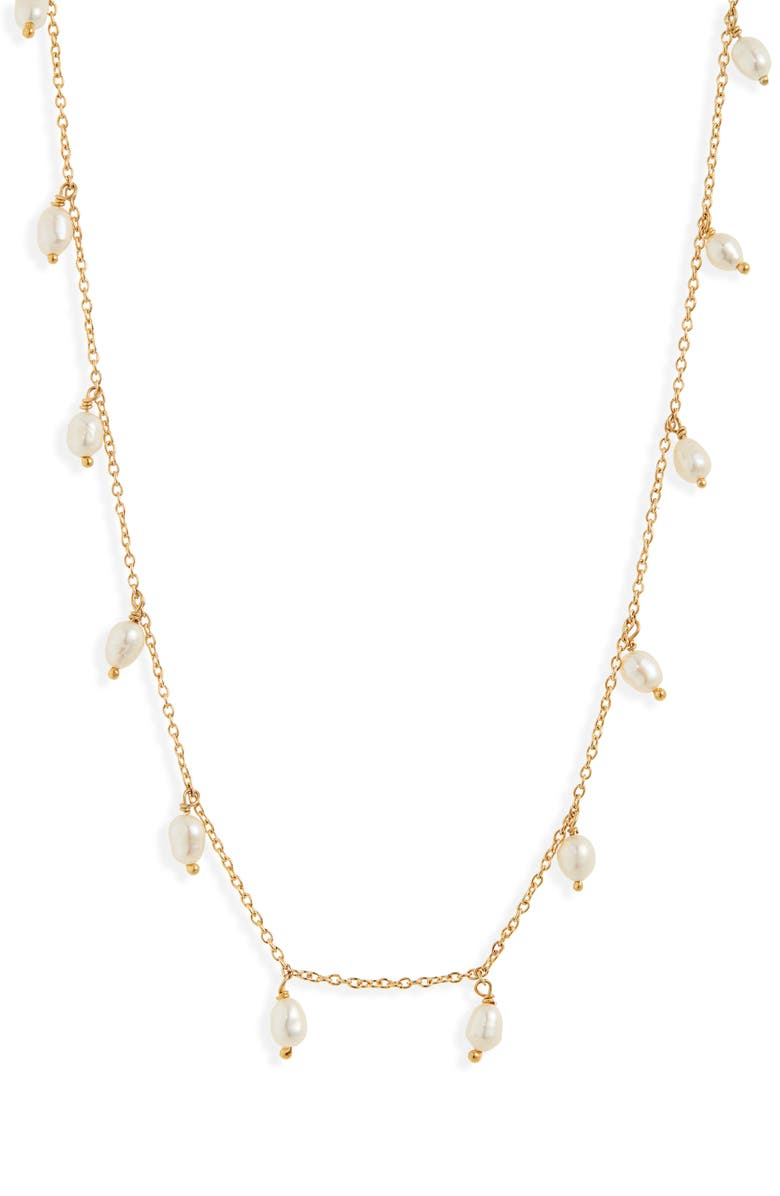 ARGENTO VIVO Pearl Shaker Necklace, Main, color, GOLD