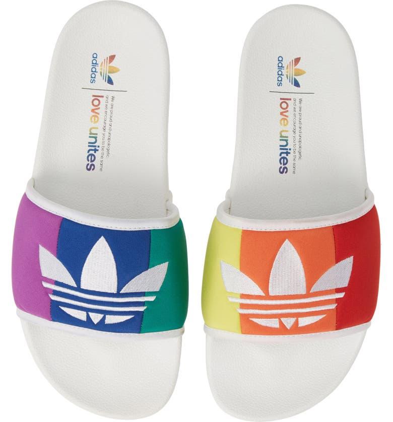 ADIDAS Adilette Pride Sport Slide, Main, color, 100