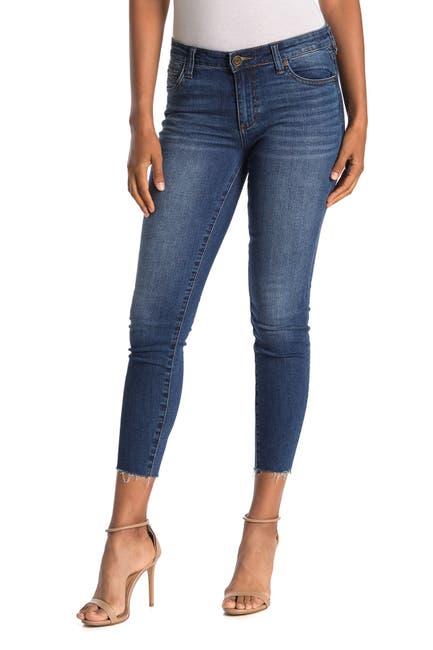 Image of KUT from the Kloth Carlo Raw Crop Hem Skinny Jeans