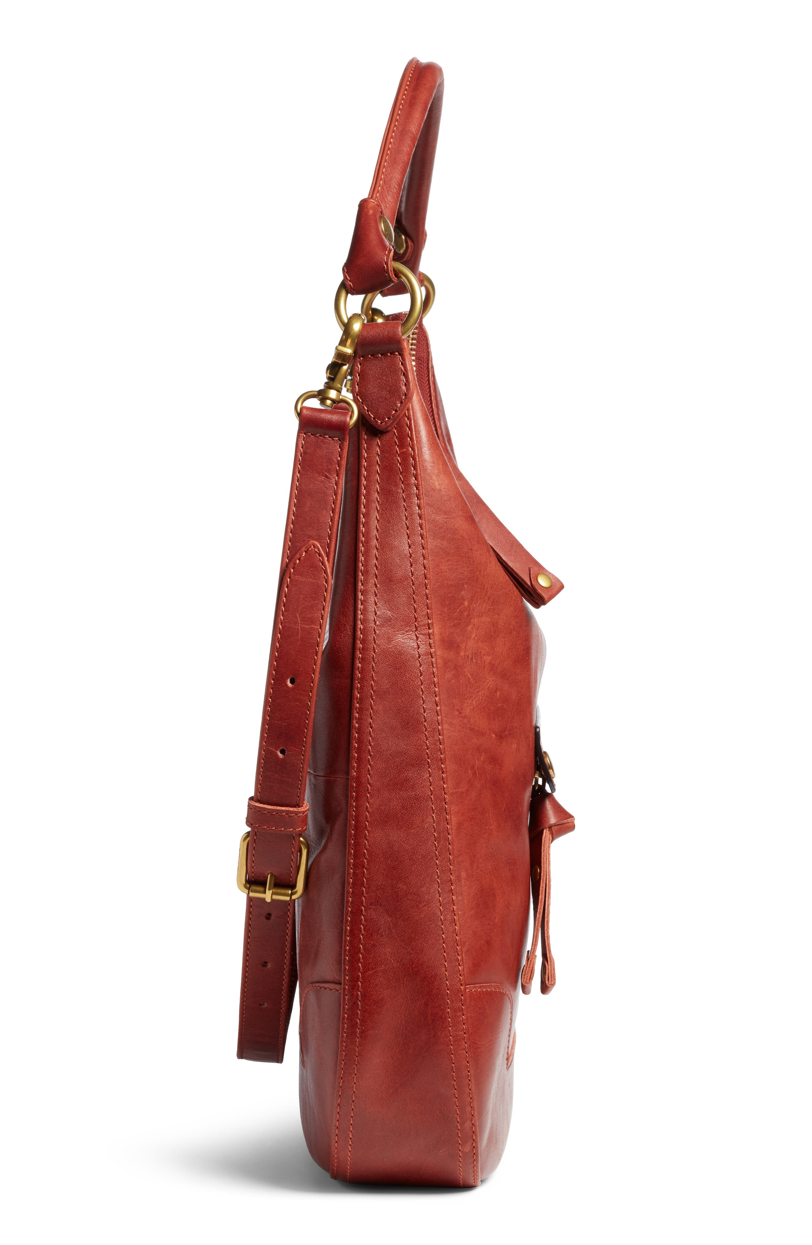 ,                             Melissa Large Leather Hobo,                             Alternate thumbnail 5, color,                             600