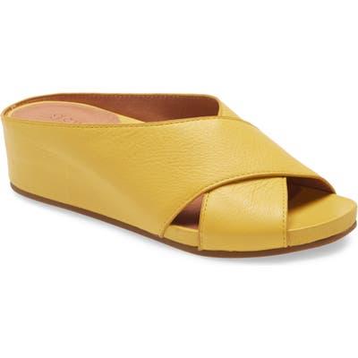 Gentle Souls Signature Giselle Slide Sandal, Yellow