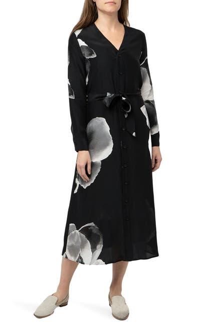 Image of Billy Reid V-Neck Tea Length Silk Dress