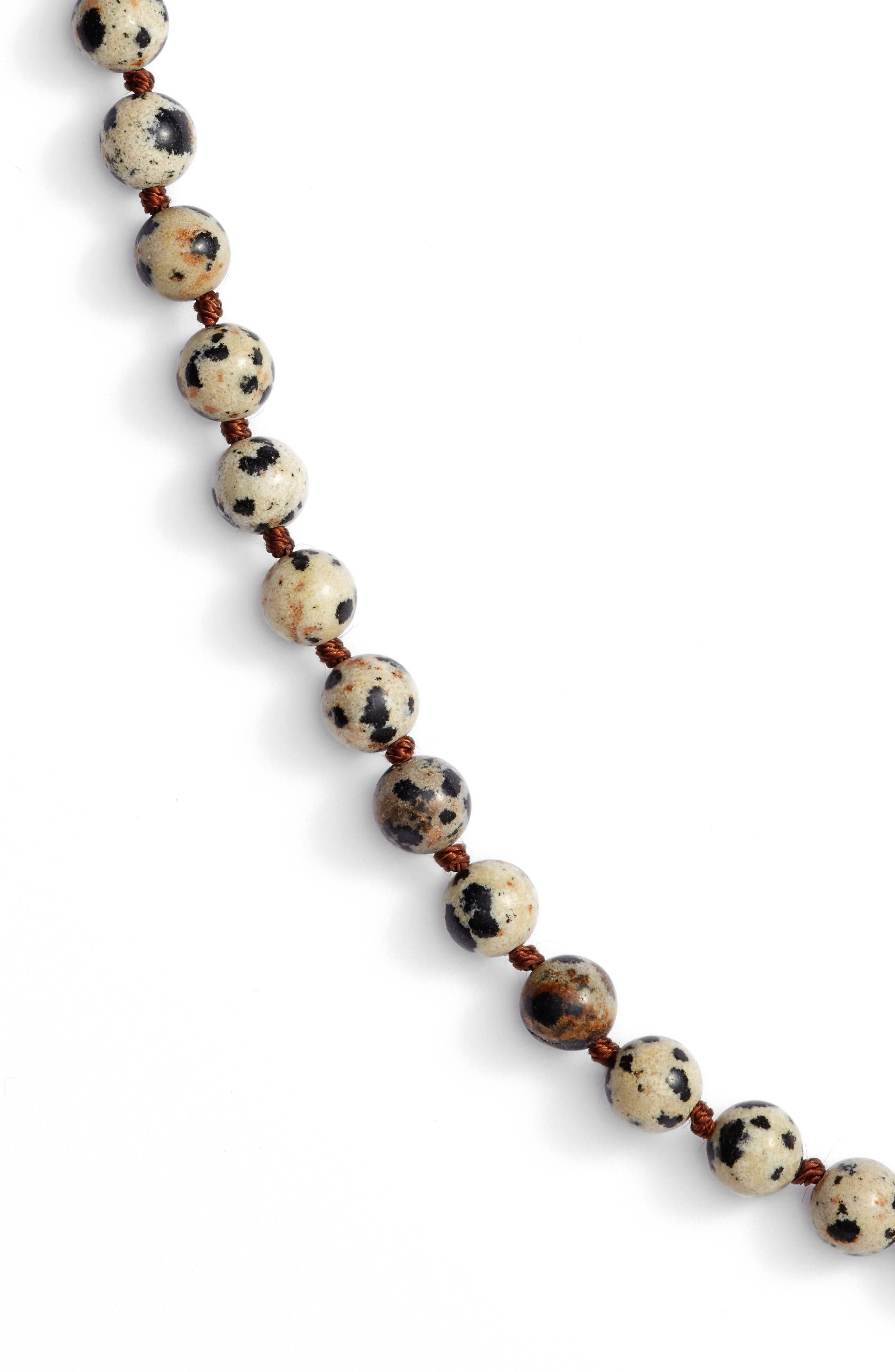 ,                             Love's Affect Knotted Semiprecious Stone Necklace,                             Alternate thumbnail 4, color,                             100