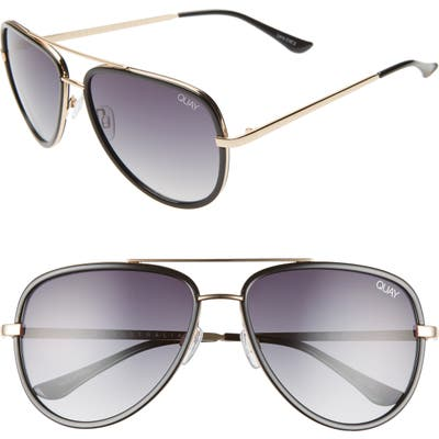 Quay Australia X Jlo All In 5m Aviator Sunglasses - Black/ Smoke Fade