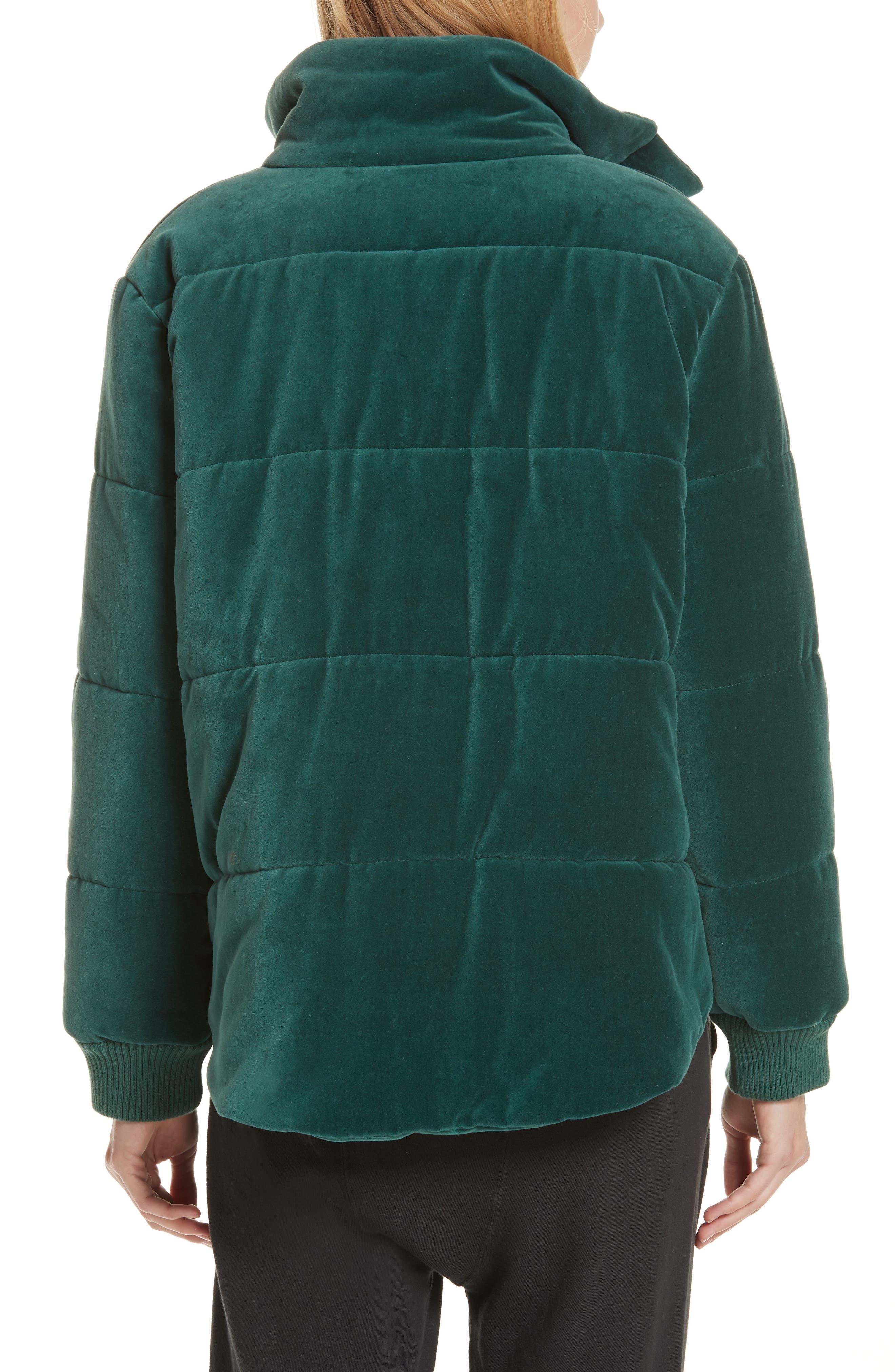 ,                             The Quilted Velvet Puffer Coat,                             Alternate thumbnail 2, color,                             300