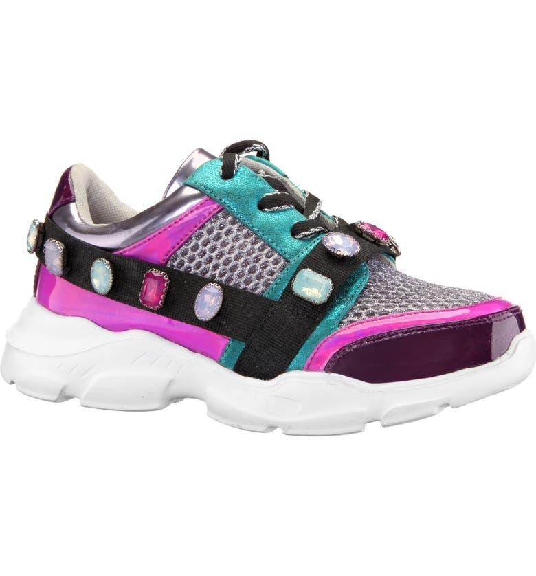 NINA Jasminda Sneaker, Main, color, MULTI METALLIC