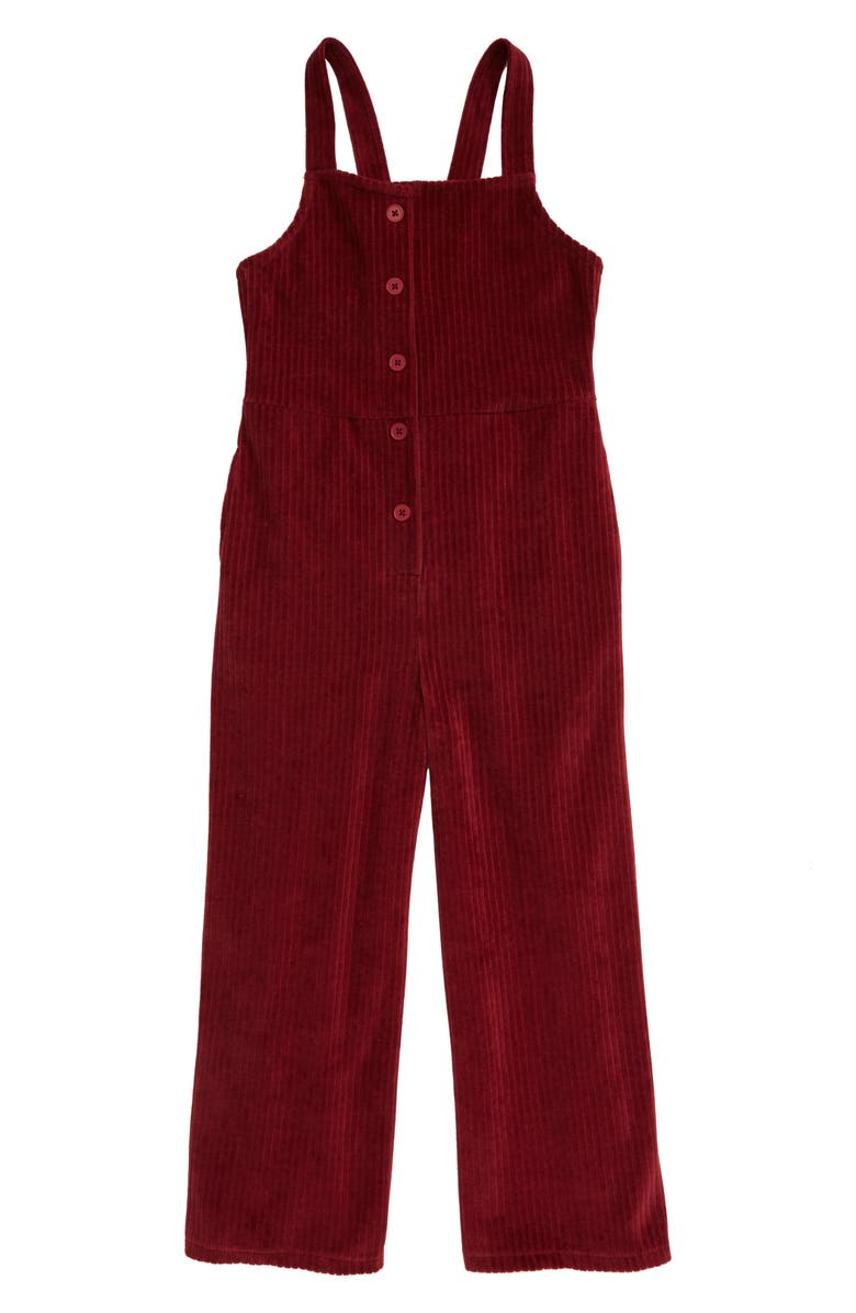 TREASURE & BOND Button Front Jumpsuit, Main, color, RED GRAPE