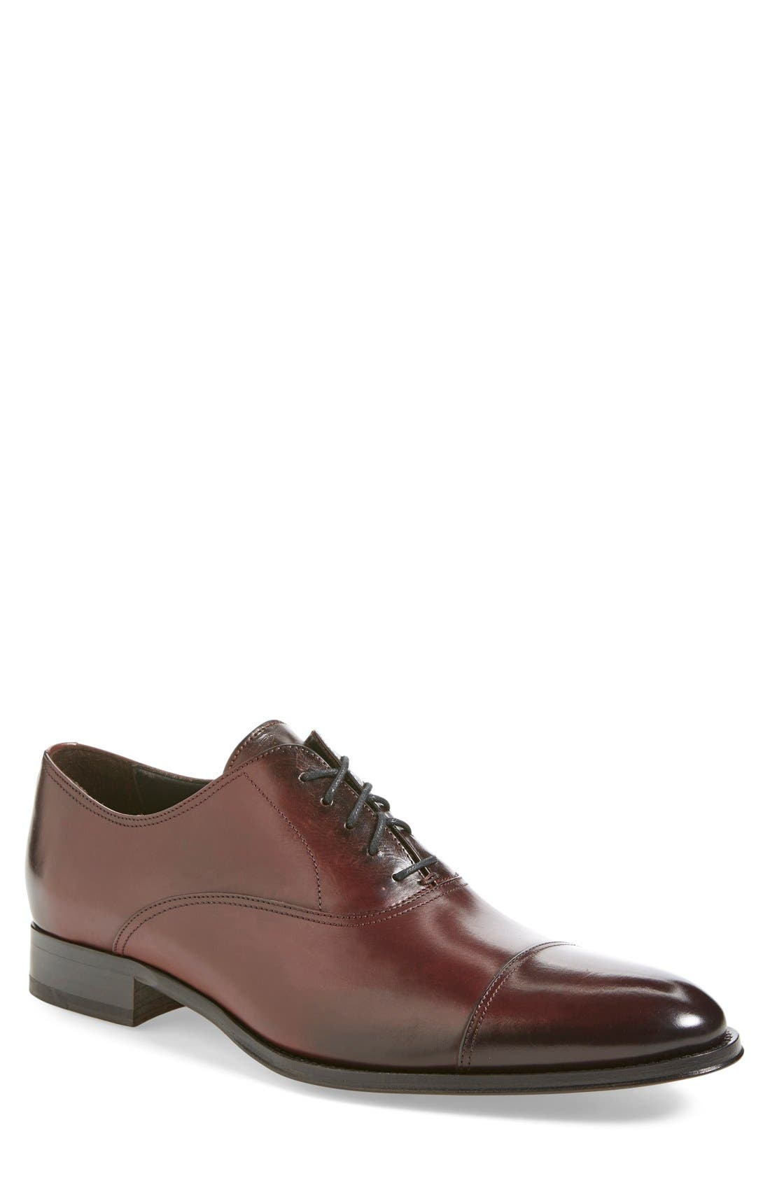 To Boot New York Brandon Cap Toe Oxford, Burgundy