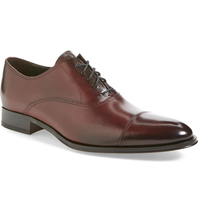 TO BOOT NEW YORK Brandon Cap Toe Oxford, Main, color, BORDEAUX LEATHER