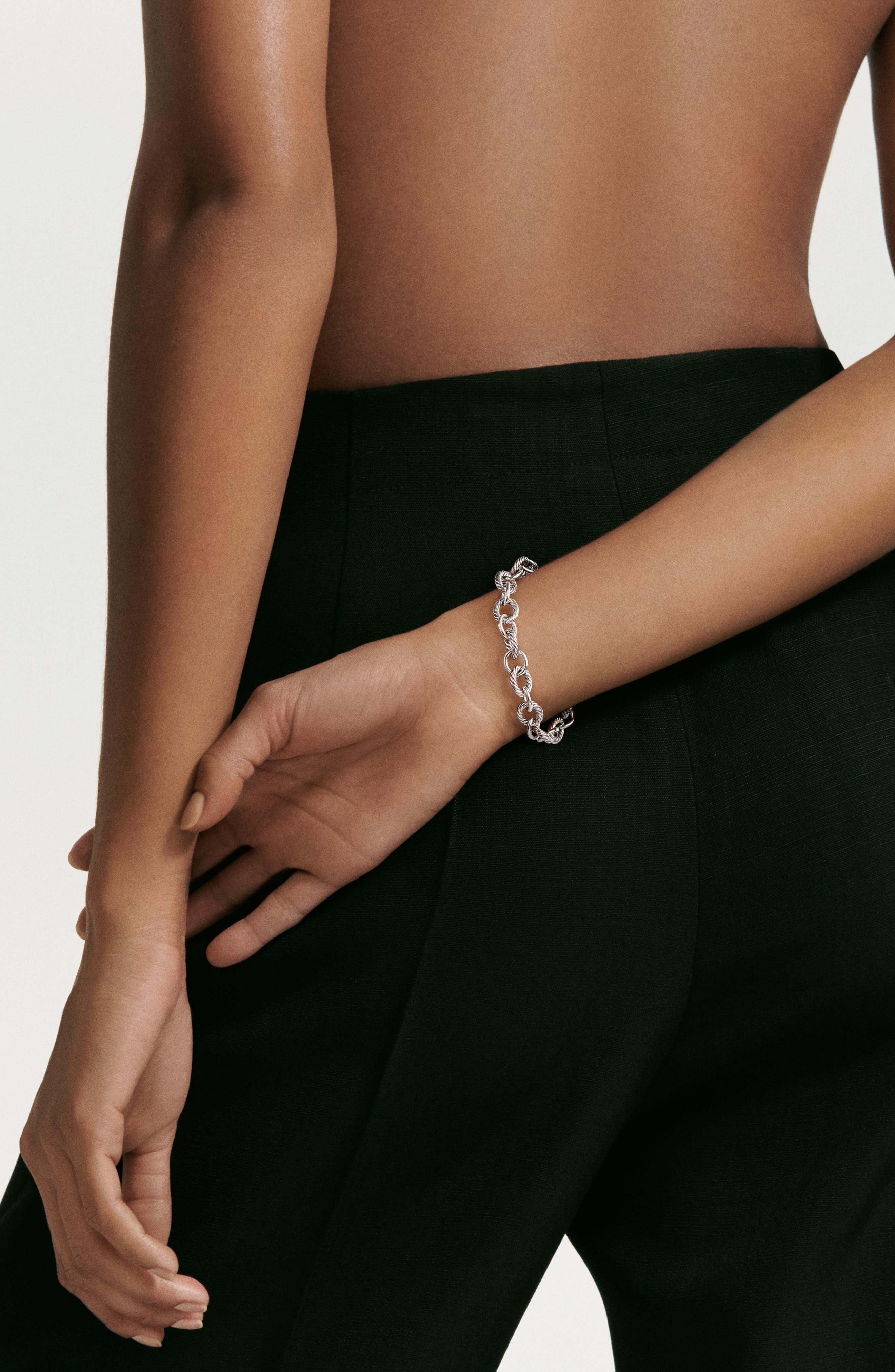 ,                             'Oval' Link Bracelet,                             Alternate thumbnail 2, color,                             SILVER