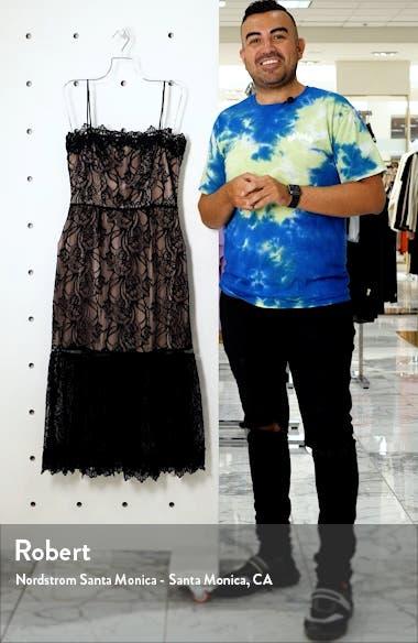 Scalloped Lace Midi Dress, sales video thumbnail