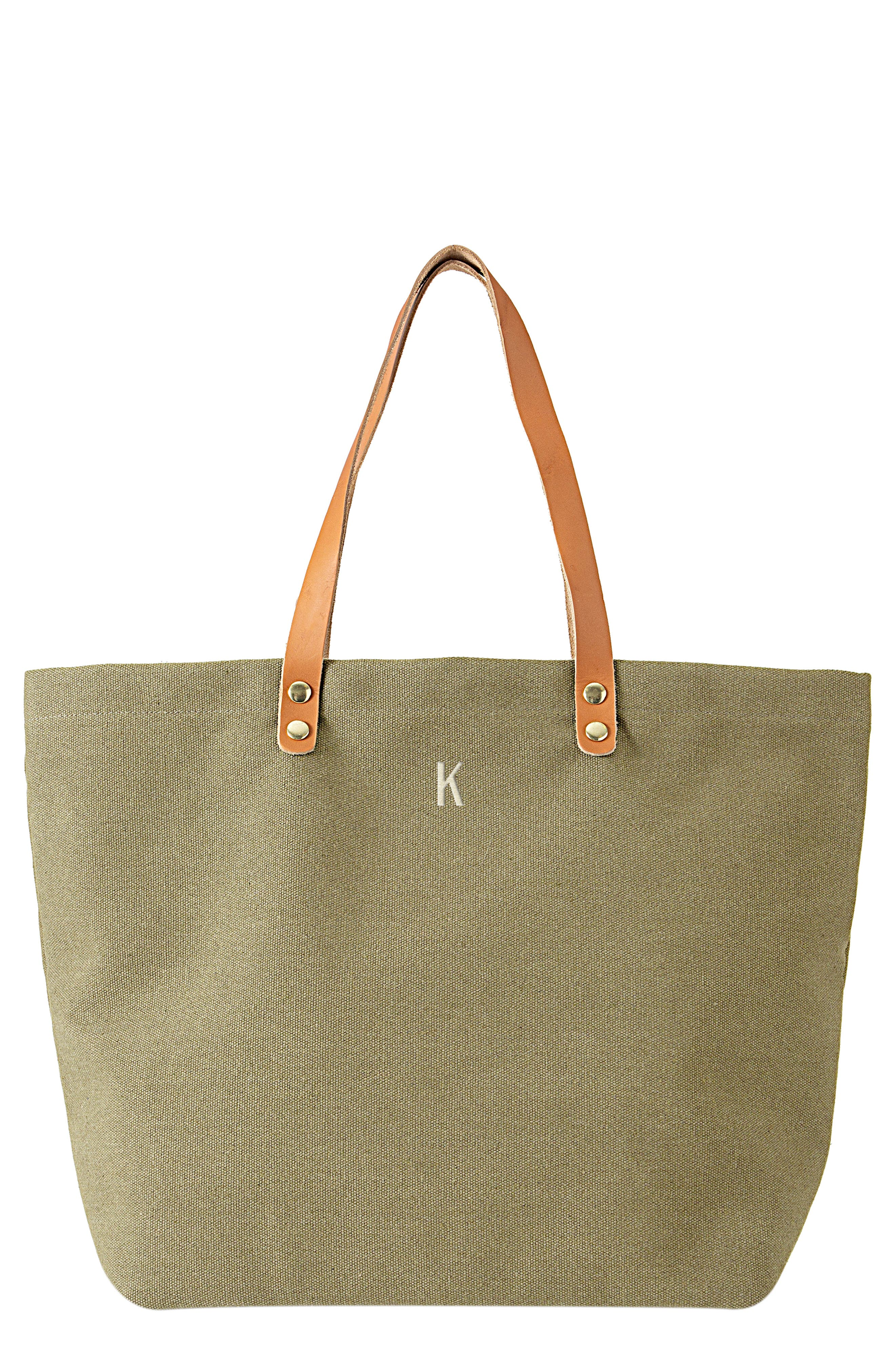 Monogram Washed Canvas Tote