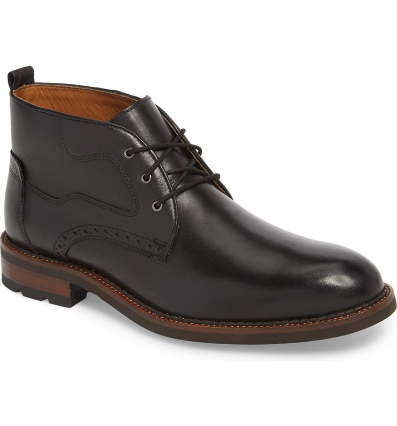 JOHNSTON & MURPHY J&M 1850 Fullerton Chukka Boot, Main, color, BLACK