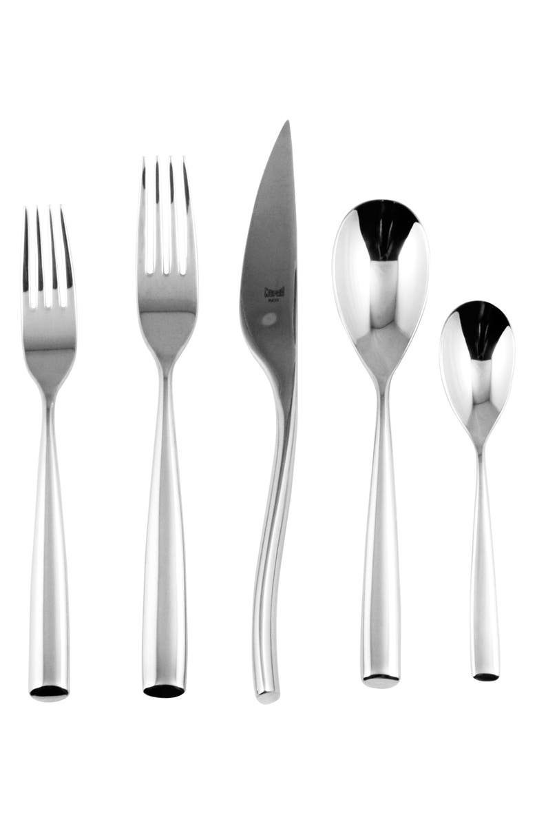 MEPRA Arte 5-Piece Place Setting, Main, color, STAINLESS SHINY