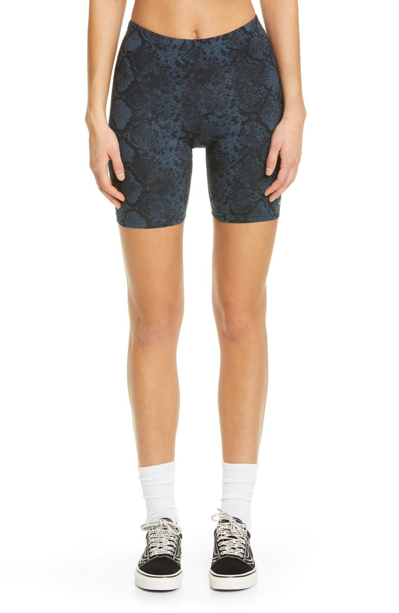 VANS x Sandy Liang Snake Print Stretch Cotton Bike Shorts, Main, color, 001