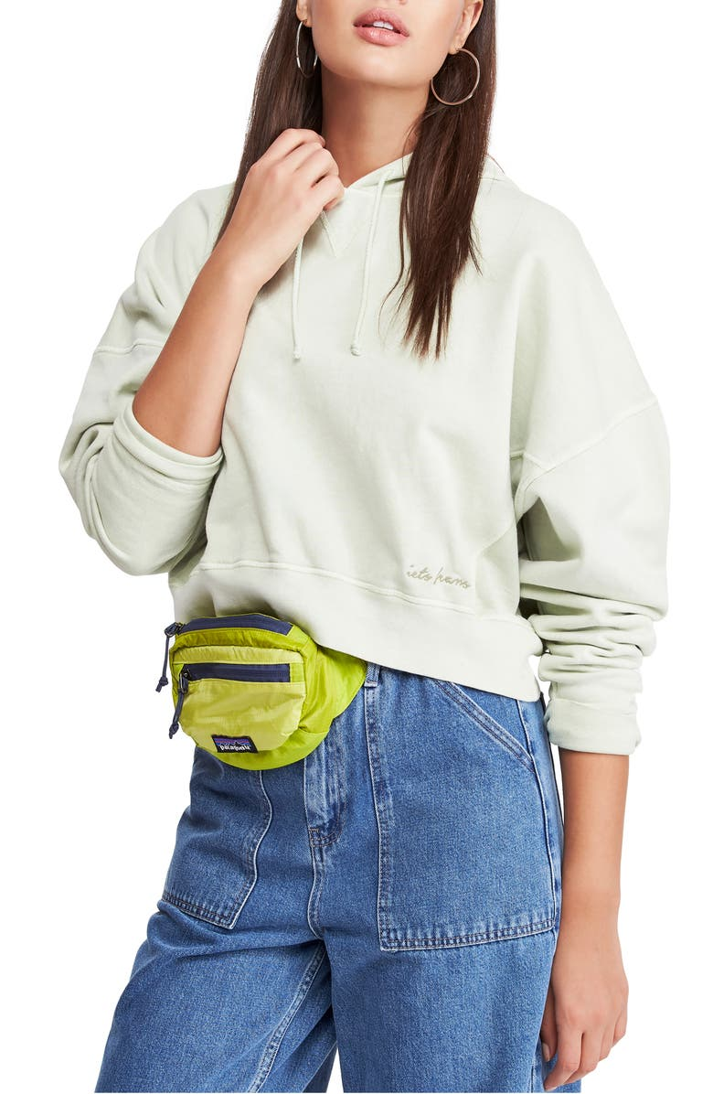 BDG URBAN OUTFITTERS Slouchy Crop Hoodie, Main, color, 300