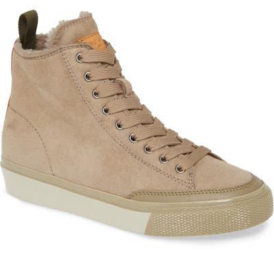 Rag & Bone High Top Sneaker With Genuine Shearling Lining - Grey