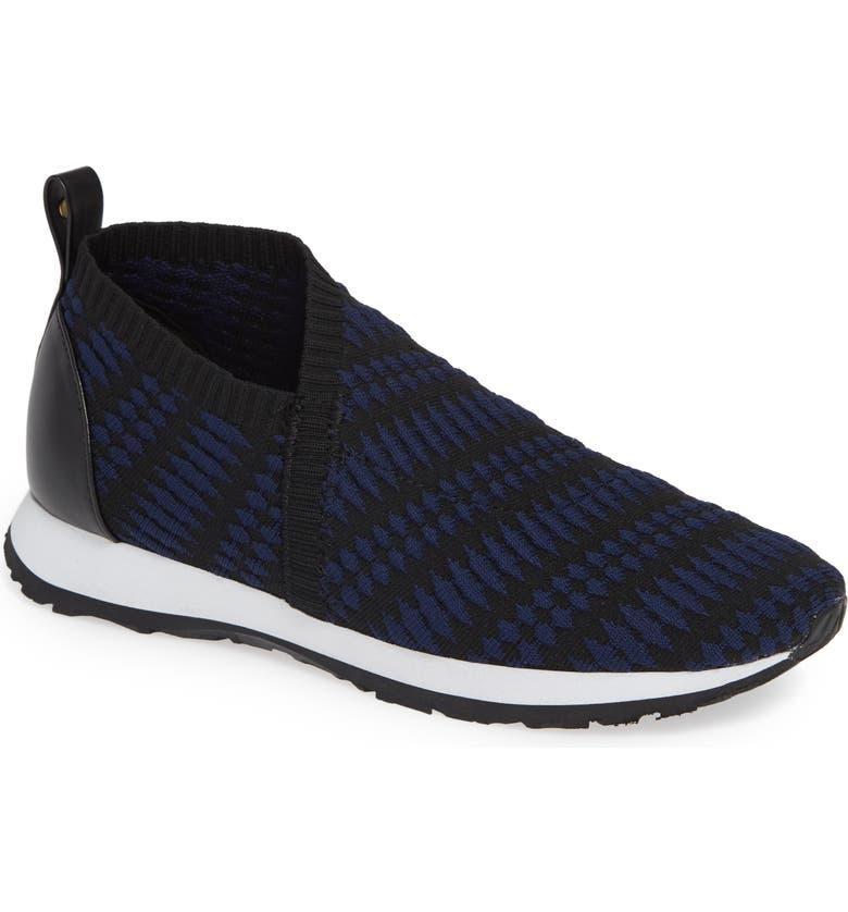 TARYN ROSE Caren Slip-On Sneaker, Main, color, BLACK/ NAVY FABRIC