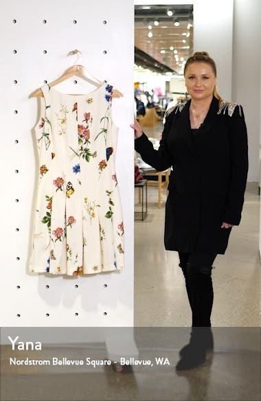 Ladies Pleated Floral Minidress, sales video thumbnail