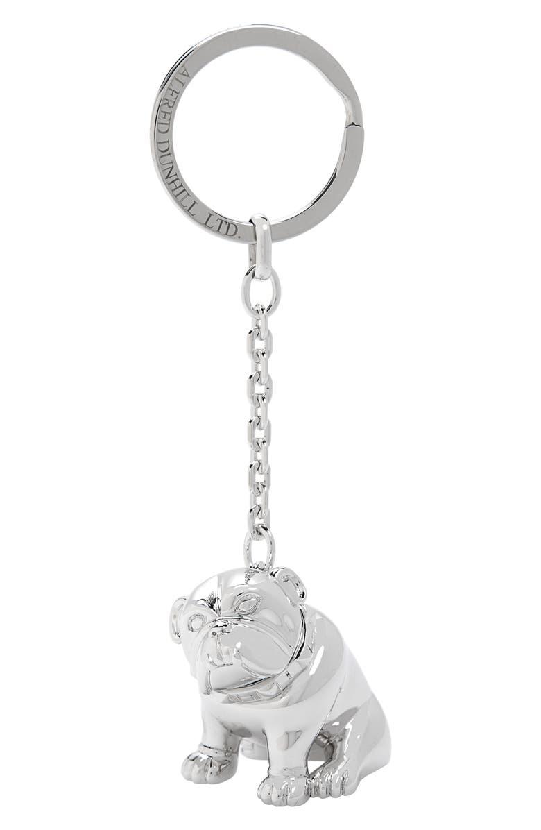 DUNHILL Bulldog Key Chain, Main, color, SILVER