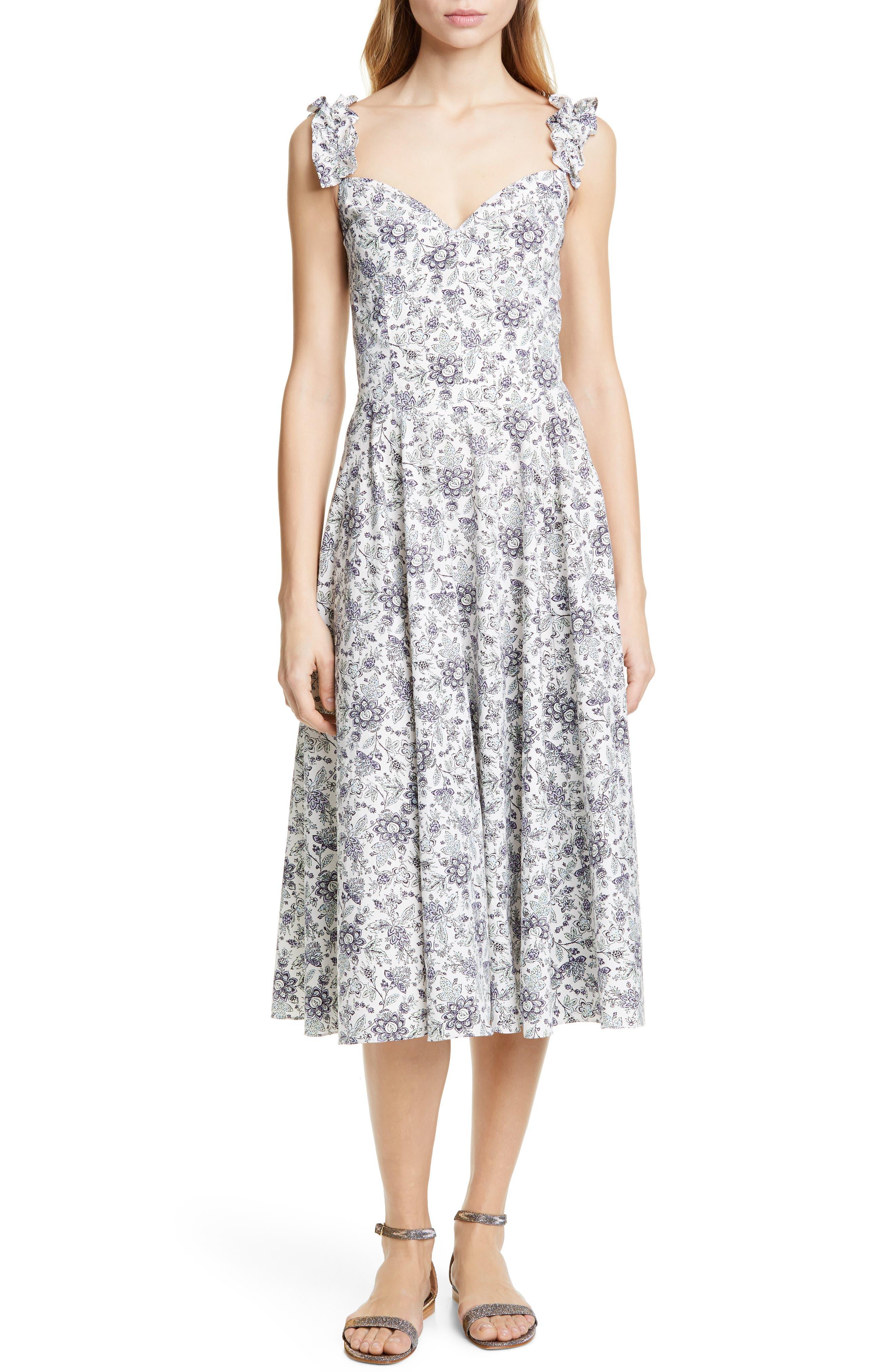 La Vie Rebecca Taylor Provencal Midi Dress, Ivory