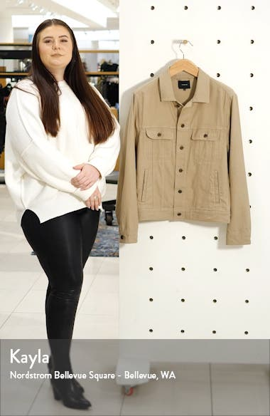 Slim Fit Linen & Cotton Trucker Jacket, sales video thumbnail