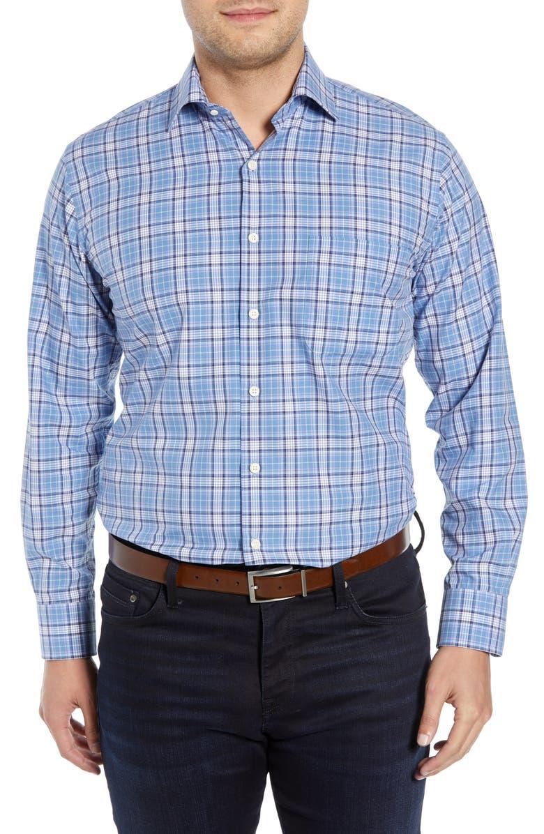 PETER MILLAR Caswell Tartan Plaid Shirt, Main, color, 422