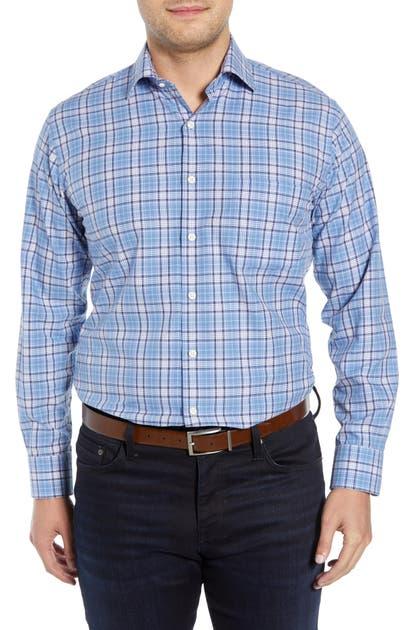 Peter Millar T-shirts CASWELL TARTAN PLAID SPORT SHIRT